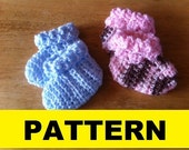 CROCHET PATTERN / Baby Booties / Two Different Cuff Styles