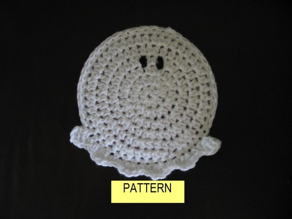 COASTER PATTERN / Crochet GHOST Coaster Pattern