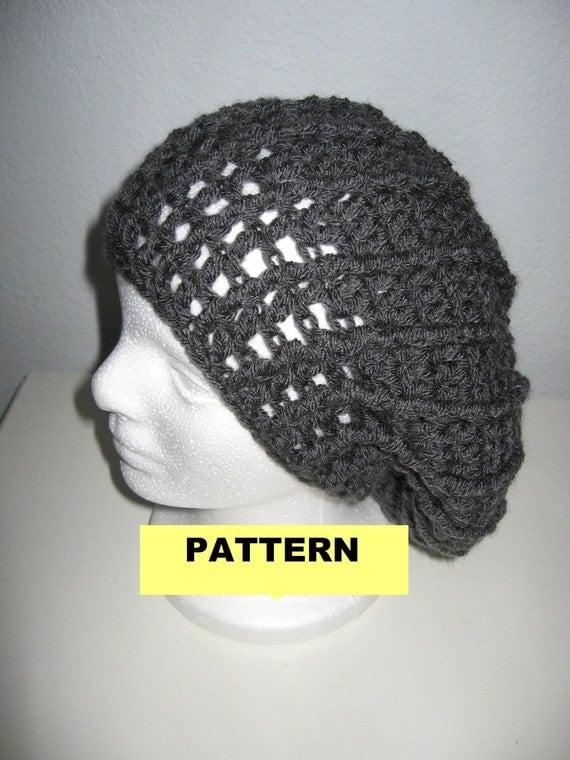 Crochet Hat Pattern Spiral : CROCHET PATTERN / Spiral Slouchy Beret / Hat / by ...
