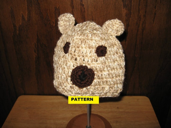 Crochet Baby Teddy Bear Hat Pattern : Crochet Pattern / TEDDY BEAR BABY Hat by CROCHETBYMELISSA ...