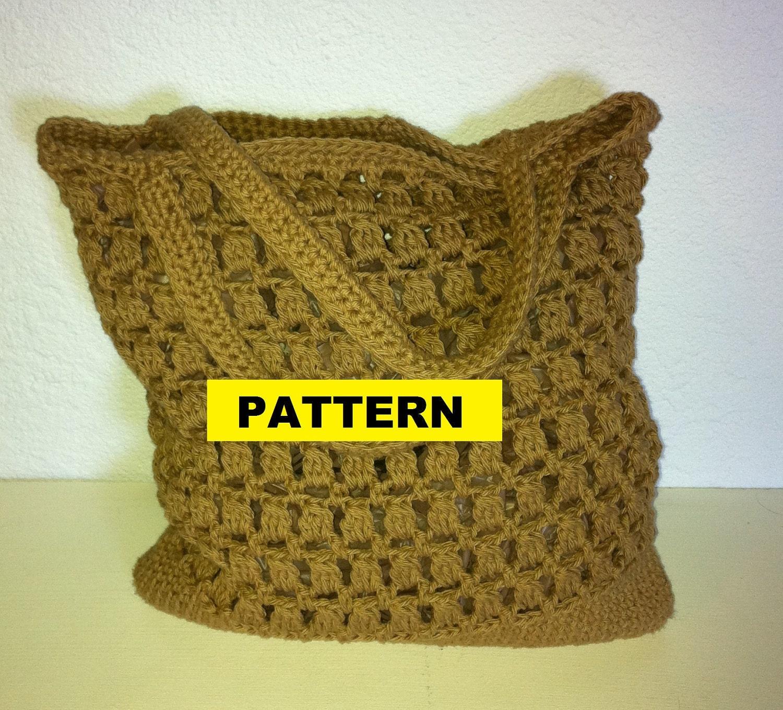 Crochet Patterns In Cotton : Crochet Pattern COTTON MARKET BAG by CROCHETBYMELISSA on Etsy