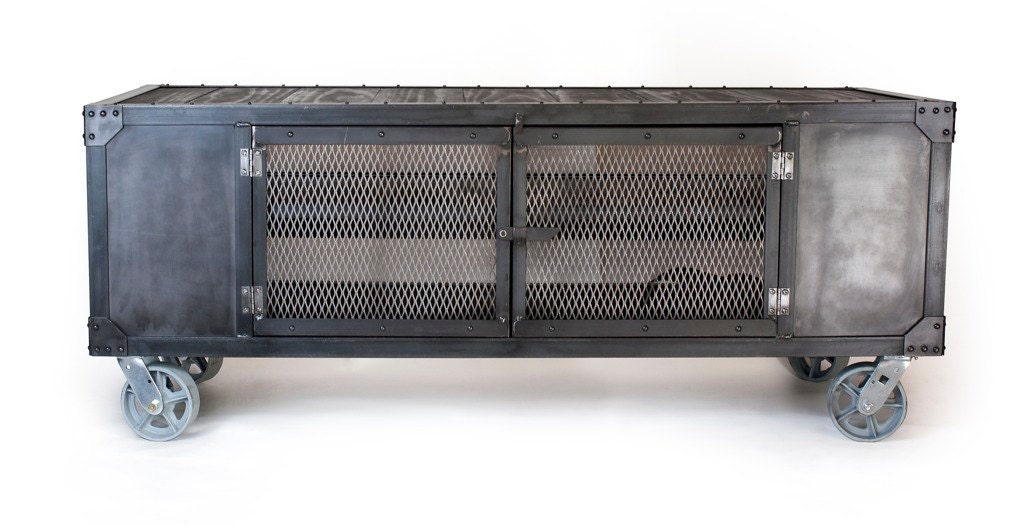 rolling tv cabinet industrial rolling media cabinet tv stand on by