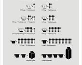 Kitchen Conversions Light Gray, 8.5 x 11 print