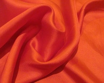 """Beautiful Small Solid Red Silk Pocket Scarf  - 17"""" Inch 44cm Square"""
