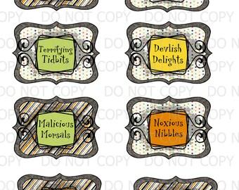 Printable DIY Halloween Treat Labels Tags