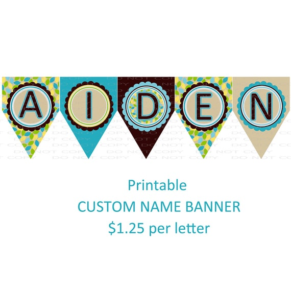Custom Name Banner Coordinates With Owl By Onelovedesignsllc