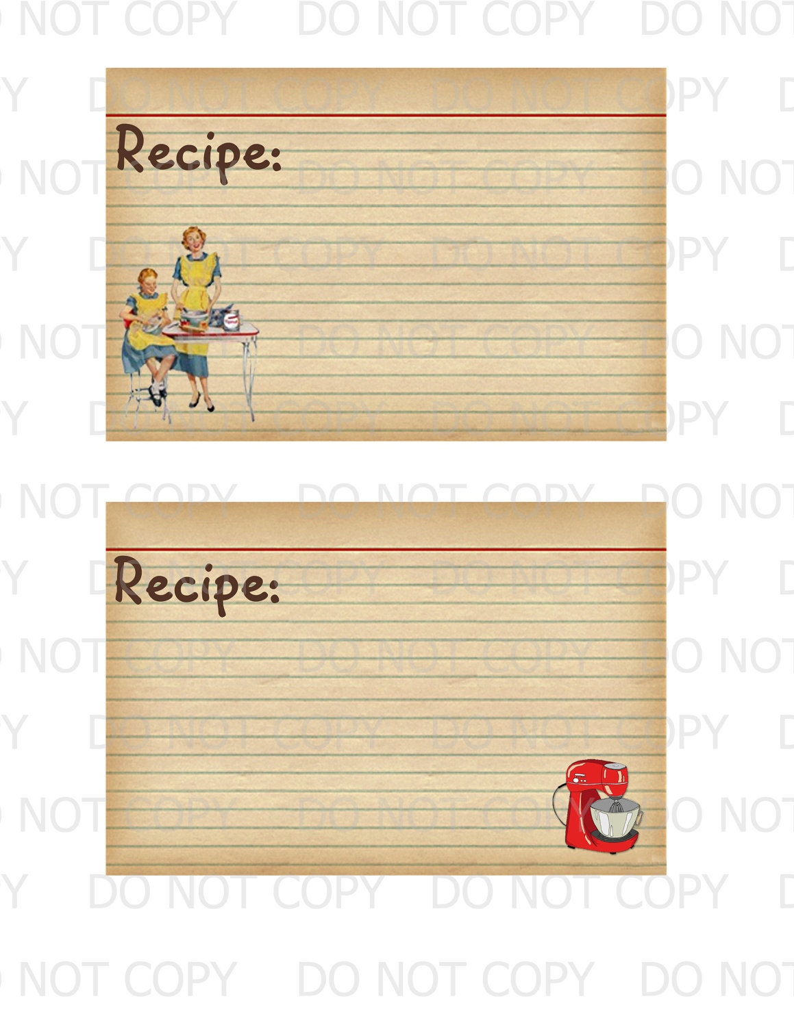 It's just a picture of Canny Printable Recipe Card