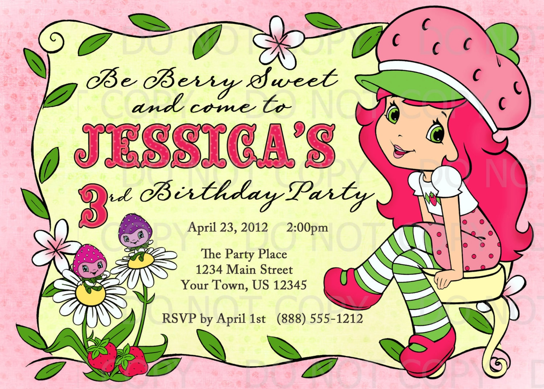 Printable DIY Strawberry Shortcake Inspired Birthday – Strawberry Shortcake Birthday Cards