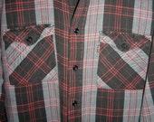 Vintage LEVI'S STRAUSS SUTTERCREEK Plaid Flannel Shirt  M Sutter Creek