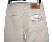 Vintage 1982 LEVI'S LEVIS 517 Bootcut Beige Ecru Cotton Jeans 30x32