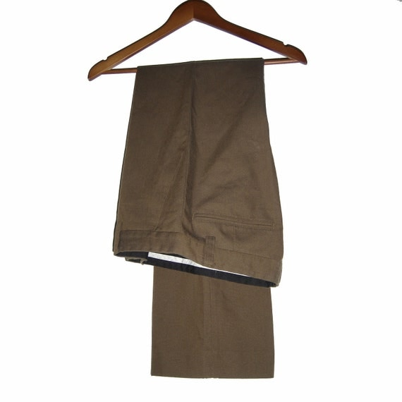 Vintage DICO Wool Poly Cotton Brown Pants Unisex Size 30