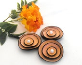 Jewelry supplies cabochon flowers. Coral color