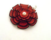 Flower pendant from leather. Jewelry supplies 25% OFF SALE