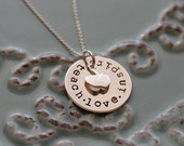 Teacher's Necklace, Personalized Hand Stamped Teacher's Gift-Sterling Silver-Teacher's Necklace