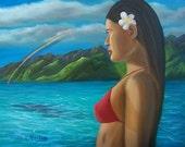 Polynesian Girl Facing Future