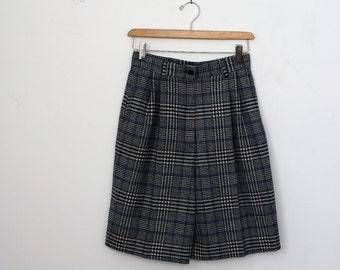 1980's Pendleton Navy Wool Plaid Shorts