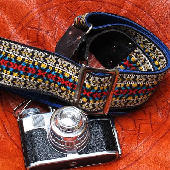 Vintage Tapestry Camera Strap - 1970's,