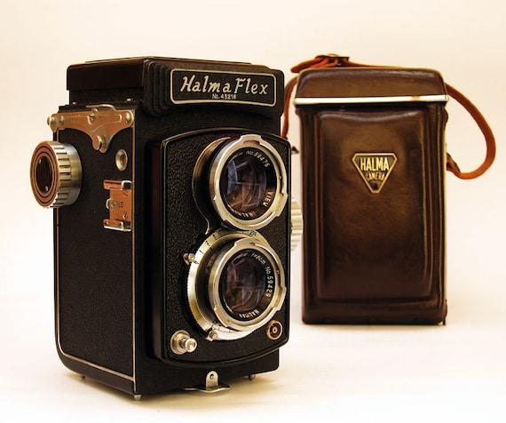 Halma Flex Model 2a Twin Lens Reflex Camera -  1960 Vintage - 120  Film Square Format Excellent Condition