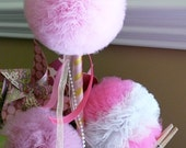 Pink Lemonade-Toy Tulle Puff  Magic Wand-Flower Girl Accessory