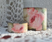 My Sweet Victorian Rose Mommie and Me Cuff Bracelet set