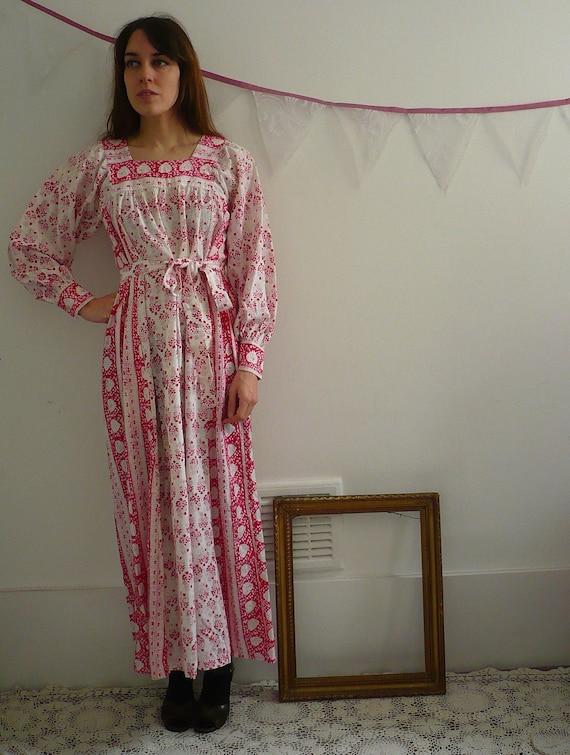 Indian Cotton Festival Folk Dress Size Small