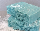 Spa Scrub Cold process Soap-based on Greek Olive Oil- Salted Jasmine