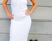 RESERVED At This Time  White Sexy Mod Long Summer Dress