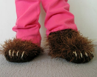 4 inch Infant Bear Paw Slippers