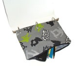 Skateboarder  Case for 3 Ring Binder with Zipper - Black and Gray - Back to School - Ready to Ship