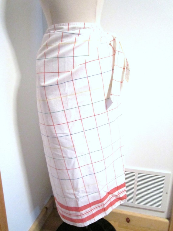 Primary Tattersall Maxi Skirt (Large/XL)