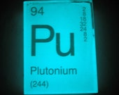 In Your ELEMENT - Periodic Table Soap - PLUTONIUM - GLOWS in the Dark - Vegan