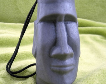 Oh MOAI Head - EASTER ISLAND God Soap on a Rope - Bamboo Teak Scent - Vegan
