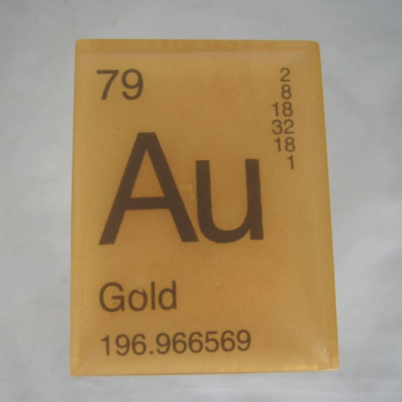 In your element periodic table soap gold vegan like this item urtaz Gallery