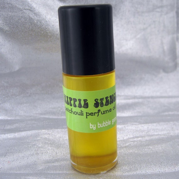 HIPPIE STENCH Big 1oz Perfume Oil Roll On - PATCHOULI Bergamot Ylang Ylang- Vegan