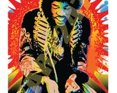 Wall Art Home Decor And music was never the same Jimi Hendrix Pop Art Print