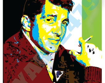 Wall Art Home Decor Rat Pack Dean Martin pop Art Print