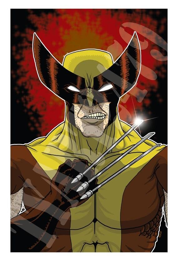 Items similar to wall art home decor marvel comics x men wolverine poster print on etsy - Marvel comics decor ...