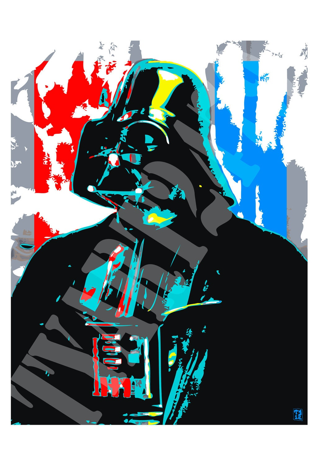 darth vader star wars pop art poster print by tyart2479 on etsy. Black Bedroom Furniture Sets. Home Design Ideas