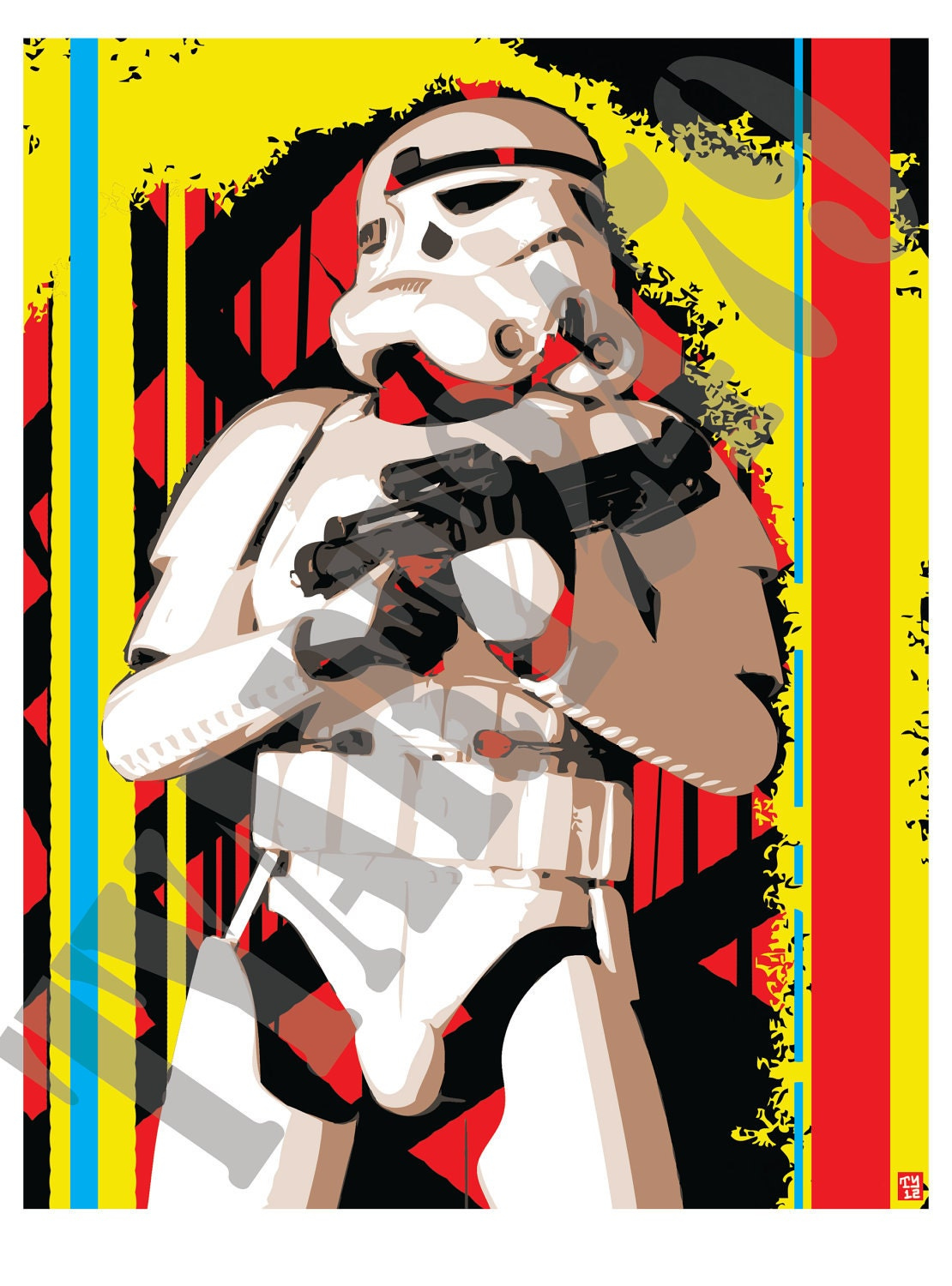 wall art home decor storm trooper star wars pop art poster. Black Bedroom Furniture Sets. Home Design Ideas