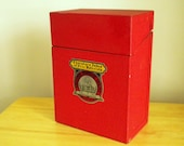 Old Red Metal File Box