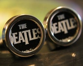 The Beatles Guitar Pick Custom Cuff Links
