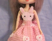 Bunny dress for Blythe, Dal, and Byul