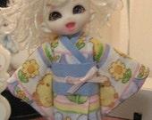 Sweet Spring kimono for pukipuki (Blue)