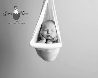 Ivory Newborn Photography Prop Gauze Sling Suspension Single-Bar