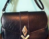 Vintage Deco-Inspired Faux Leather/Vinyl Purse