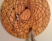 Against the Grain - hand painted/woven dream catcher