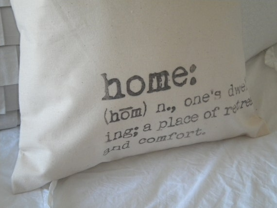 Home Definition Pillow Cover