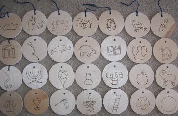 Jesse Tree Symbols - Wood Ornaments - Advent - McCaughrean Style ...