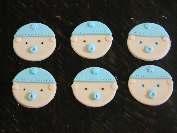 Fondant Cupcake Faces Baby Face Edible Fondant