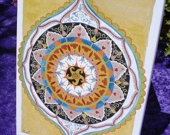 Journey Mandala - Fine Art Signed Print - Mandalamagic1 Original Mandala Art - Rainbow Art - Colorful Art - Home Decor - Wall Art